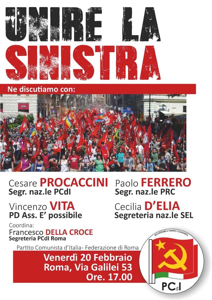 Manifesto iniziativa unire sinistra