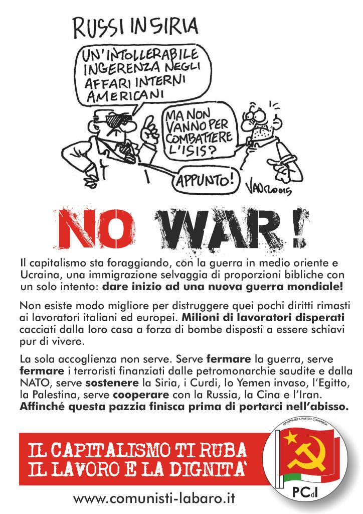 volantino immigrazione guerra 1