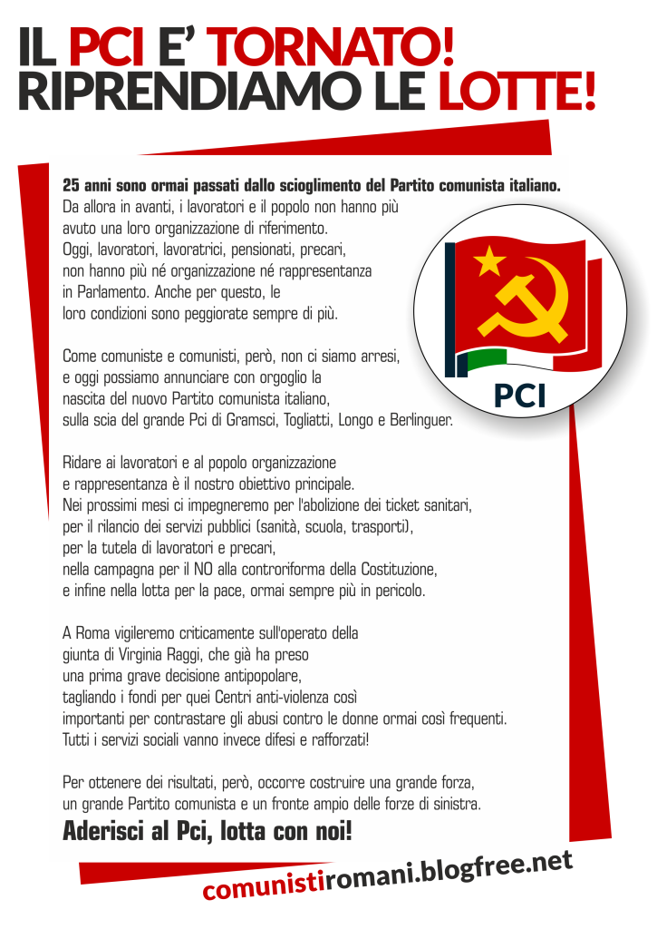 Volantino fede roma PCI