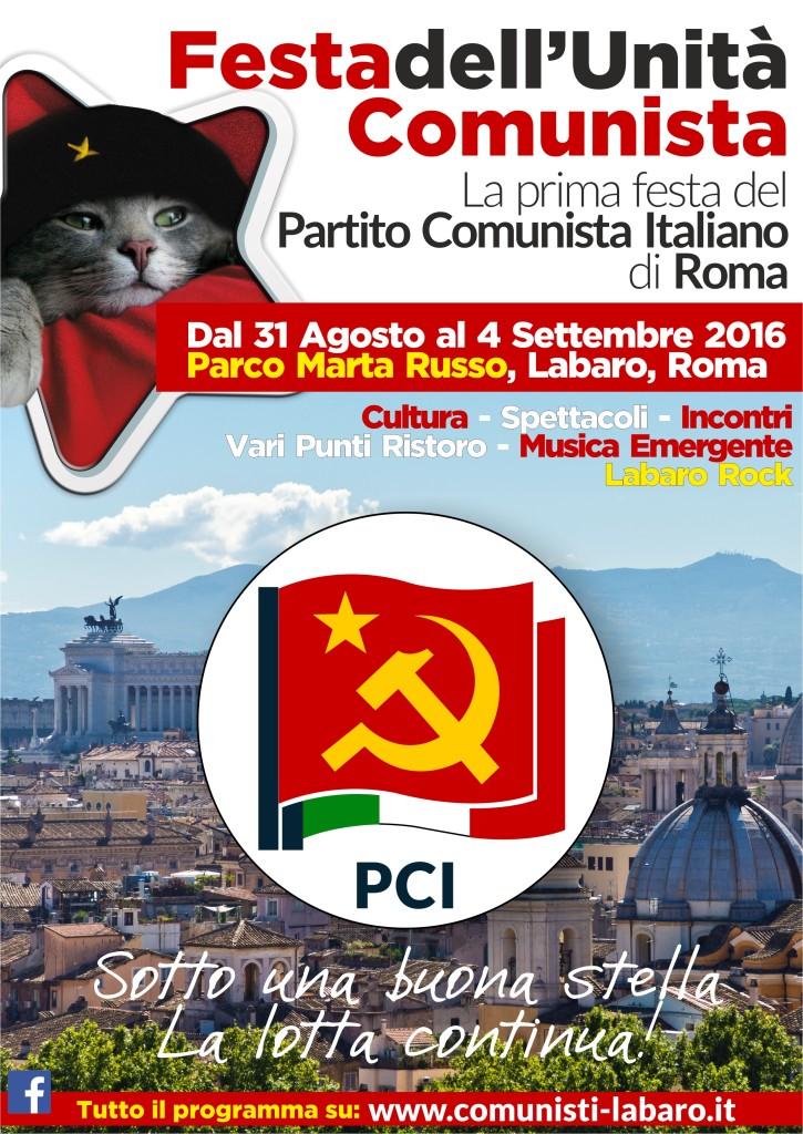 Manifesto prima festa PCI