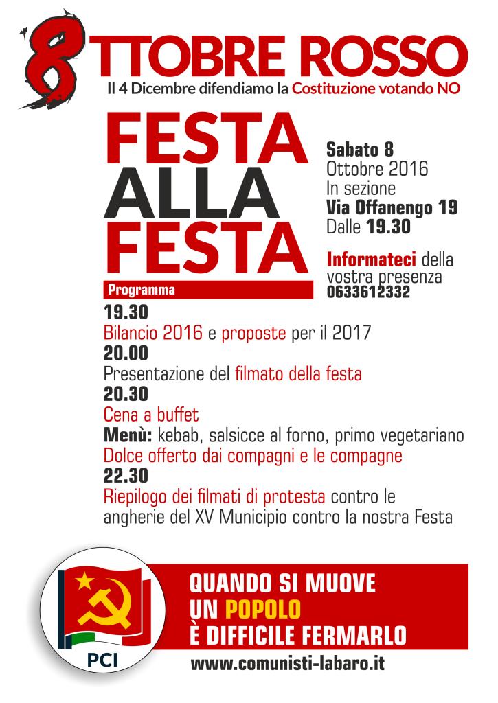 Locandina Festa alla Festa