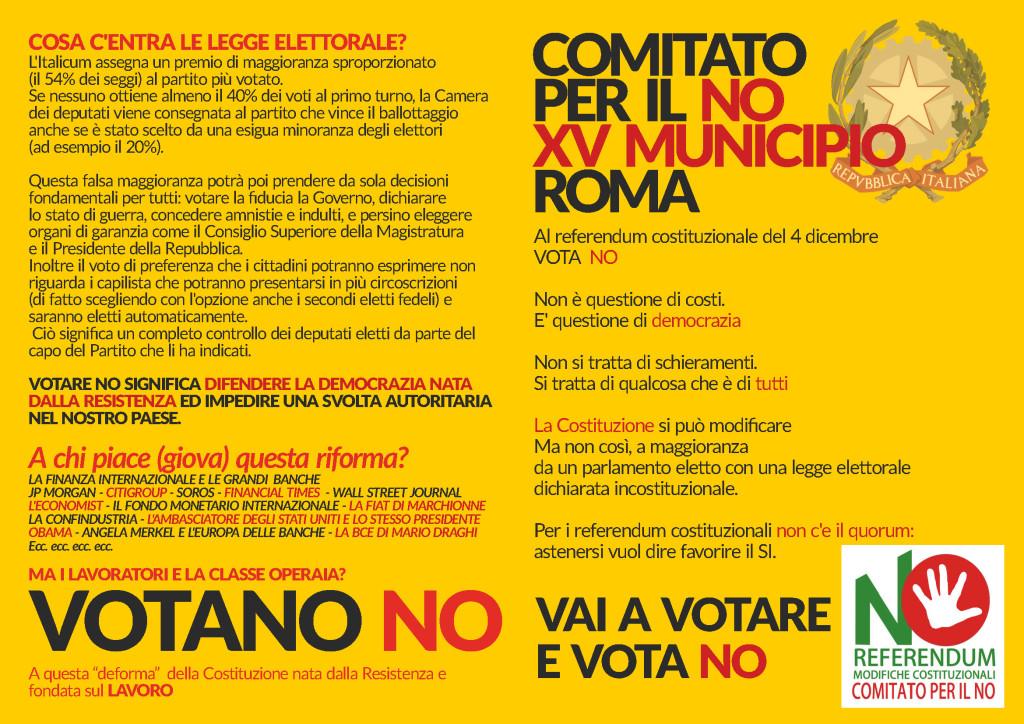 Volantone referendum xv municipio FRONTE