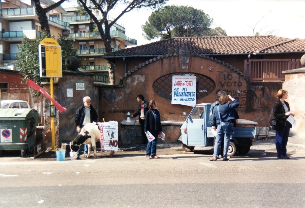 1997 Labaro Manifestazione contro Privatizzazione Centrale Latte001