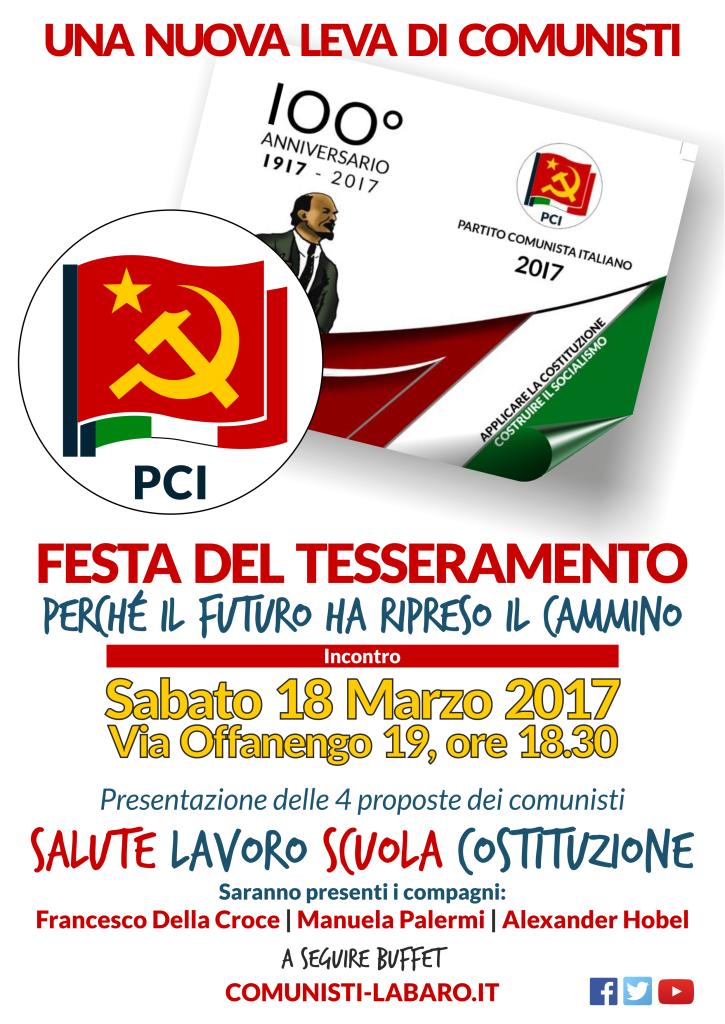 Manifesto Tesseramento e Casa dei Comunisti